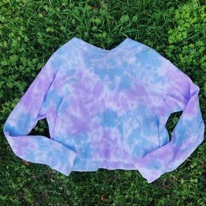 Wild Fable Waffle Knit Tie Dye Thermal Top